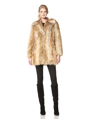 Nicole Miller Women's Notch Collar Jacket (Red Fox)