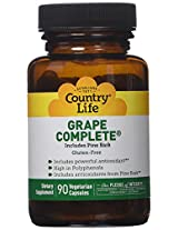 Country Life Grape Complete Pine Bark , 90 vegetarian Capslues