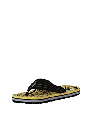 Reef Chanclas Surfers Are Friends (Negro/Amarillo)