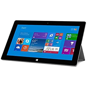 """Microsoft Surface 2 32GB Tablet - Windows RT 8.1, 10.6"""" 1920x1080 LCD Touchscreen, 32GB Storage, 2GB Memory, Front and Rear Camera (P3W-00001)"""