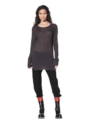 Ann Demeulemeester Women's Long Sleeve Top (Slate)