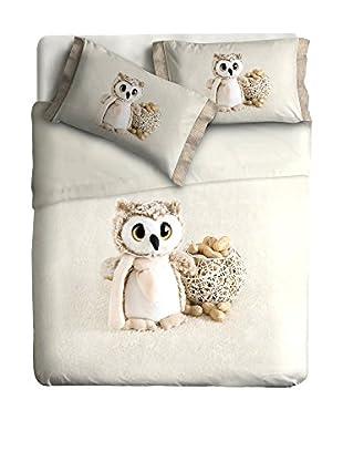 Ipersan Betttuch und Kissenbezug Owl