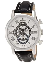 Titan Classique Chronograph White Dial Men's Watch - NE9234SL01J