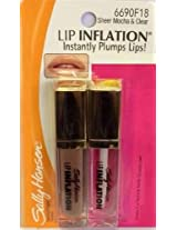 by SALLY HANSEN Lip Inflation Gloss Duo #6690F18 CLEAR AND MOCHA