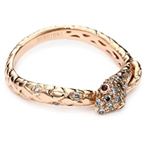 Borgioni Rose Gold Stackable Snake Band , Size 7