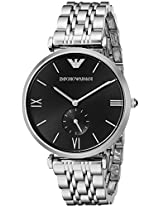 Emporio Armani Analog Black Dial Unisex Watch - AR1676