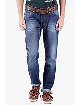 Blue Low Rise Slim Fit Jeans Locomotive