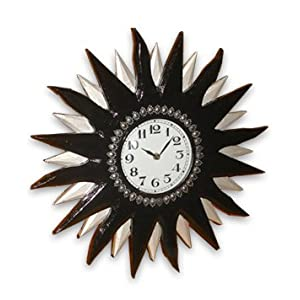 Dark Brown and Silver Wall Clock