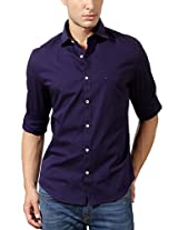 Peter England Navy Ultra Slim Shirt