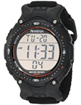 Armitron Men's 408159BLK Sport Chronograph Black Strap Digital Display Watch
