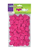 "Creativity Street Pom Pons 100-Piece x 1"" Hot Pink"