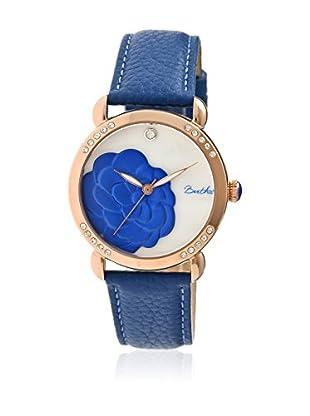 Bertha Uhr mit Japanischem Quarzuhrwerk Daphne blau 41 mm