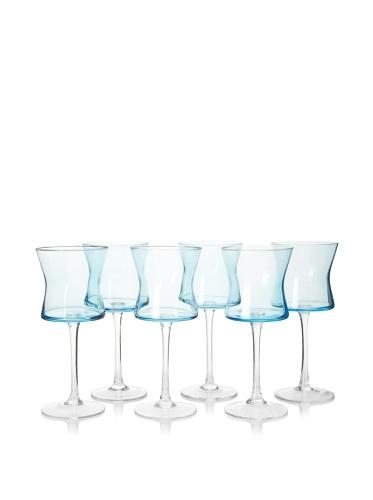 Artland Set of 6 Soho Goblets, Turquoise