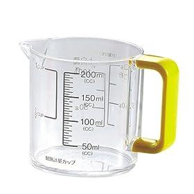【クリックで詳細表示】パール金属 Colors 耐熱 計量カップ 200ml イエロー C-1391: ホーム&キッチン