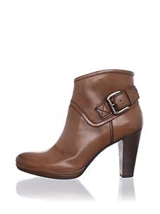 André Assous Women's Macall High Heel Buckle Ankle Boot (Cognac)