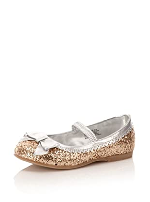 L'Amour Shoes Sparkle Mary Jane Flat (Toddler/Little Kid) (Gold)