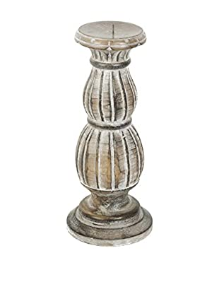 My Spirit Garden Rustic Washed Victorian Wood Candle Holder