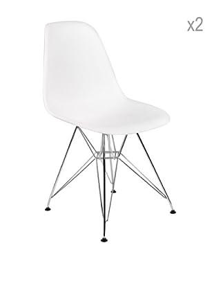 Lo+deModa Set De 2 Sillas Tower Color Edition Blanco