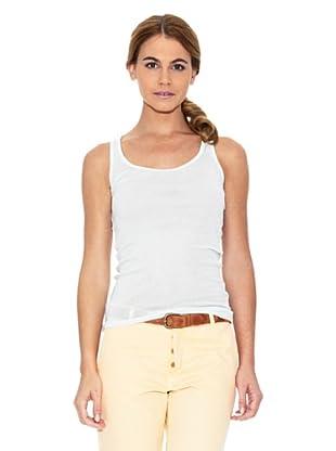 American Vintage Camiseta Cuello Redondo (Crema)