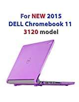 "Purple iPearl mCover Hard Shell Case for 11.6"" Dell Chromebook 11 3120 series Laptop released after Feb. 2015 with 180-degree LCD hinge (NOT compatible with 2014 original Dell Chromebook 11 210-ACDU series) (Purple)"