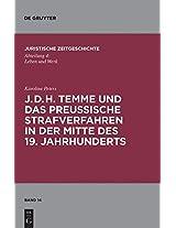 J. D. H. Temme Und Das Preubische Strafverfahren in Der Mitte Des 19. Jahrhunderts (Schriftenreihe Juristische Zeitgeschichte)