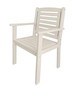 Esschert Design USA Arm Chair, White
