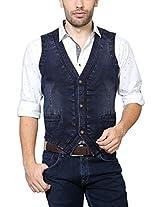 Van Heusen Men Slim Fit Outerwear_VDWC315D07701_42_Blue