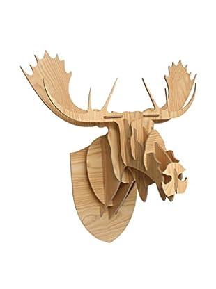 LO+DEMODA Decoración Pared Moose Puzzle 3D
