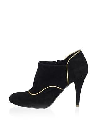 Rockport Zapatos Abotinados Tacón Presia (Negro / Dorado)