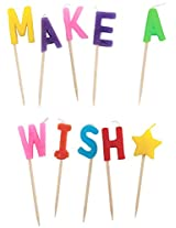 Party Partners Design Candid Candles: Make A Wish, Multicolored