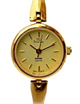 HMT Yellow Dial Analogue Watch for Women (ALGG 55)