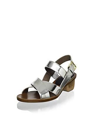 MARNI Women's Mod Heel Sandal (Light Silver)
