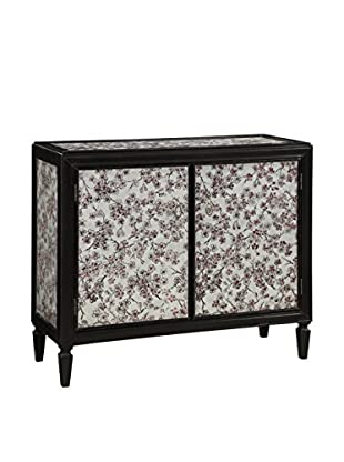 Coast to Coast Raspberry Floral 2-Door Cabinet