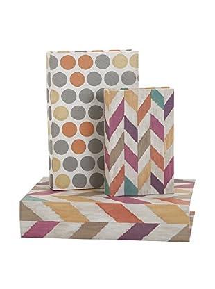 Set of 3 Confetti Book Boxes