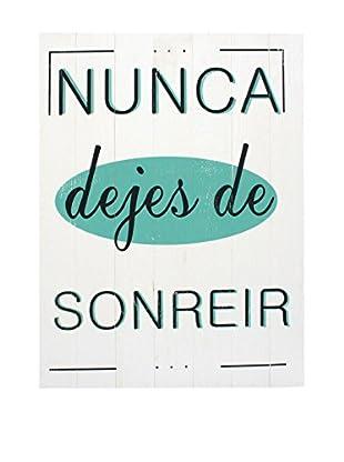 LO+DEMODA Panel de Madera Sonreír