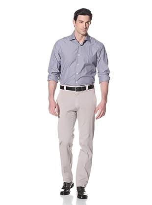 Incotex Ivory Men's Cotton Flat-Front Trousers (Cream)