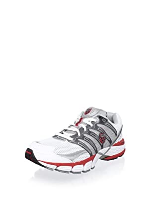 K-Swiss Men's Keahou II Running Shoe (White/Red/Charcoal)