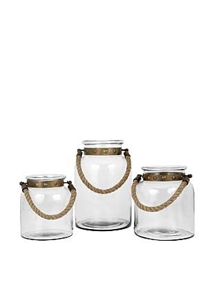 Pomeroy Calico Set of 3 Lanterns, Burned Copper