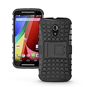 Pudini Bumper Case Cover For Moto G 2nd Gen XT1068 (Black) With Screen Guard