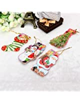 Mini Gift Card With Hang Strap Christmas Tree DIY Accessories Gift Tag(1pc only)