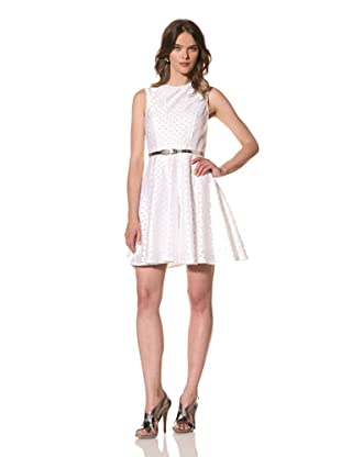 Cynthia Rowley Women's Lattice Embroidered Tulle Dress