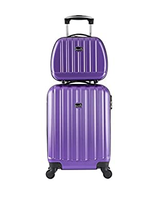 BLUESTAR Set Trolley Rigido e Beauty Case Prague