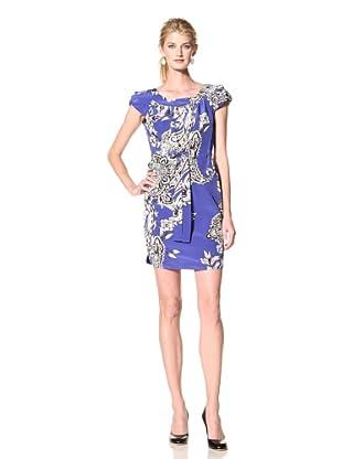 Yoana Baraschi Women's Cap Sleeve Dress (Blue/Multi)