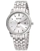 August Steiner Men's ASA824SS Diamond Automatic Bracelet Dress Watch