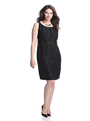 Taylor Women's Jacquard Dress (Black/brown)