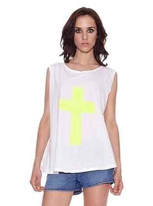 The Hip Tee Camiseta Acid Lime Angel (Blanco)