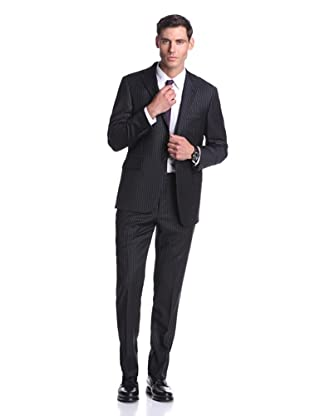 Hickey Freeman Men's Stripe Suit (Black)