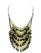 Monisha Daga Green Potli Necklace NE15-GN for Women