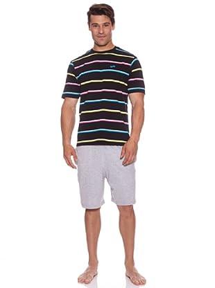 Abanderado Pijama Multicolor Strip (Negro/Gris)
