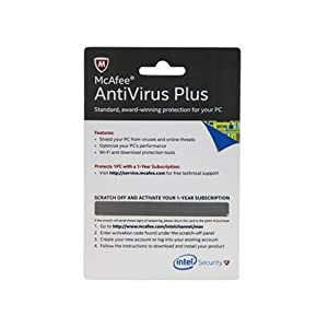 McAfee Anti-Virus Plus - 1 PC, 1 Year (Voucher)